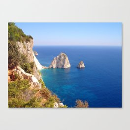 Zante Coastline Canvas Print