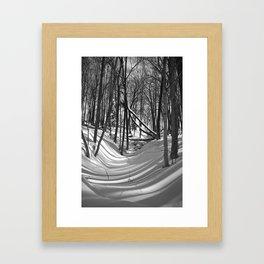 Falling Shadows Framed Art Print