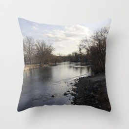 By the river 2 Throw Pillow