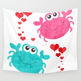 Love Crab Wall Tapestry