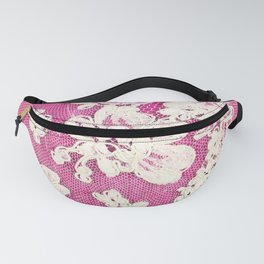 pink lace-photograph of vintage lace Fanny Pack