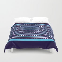 Stripes Pattern #206 (navy blue) Duvet Cover