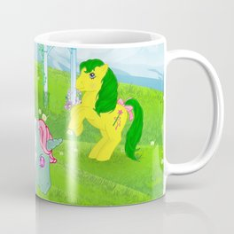g1 my little pony stylized Fizzy, Gusty and Magic Star Coffee Mug