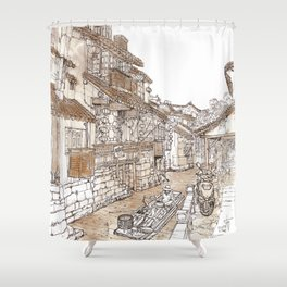 Xitang.China.River Village Shower Curtain