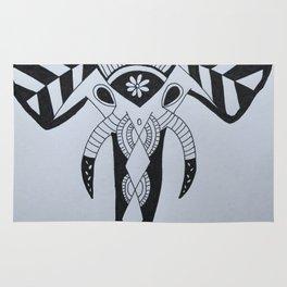 Zentangle Elephant Rug