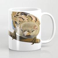 sparrow Mugs featuring sparrow by Alessandra Razzi Illustrazioni