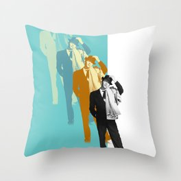 Frank Steps Out Again Throw Pillow