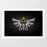 hyrule Art Prints featuring Zelda Hyrule by Art & Be