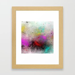 Abstract Cosmos - Colourful, space abstract Framed Art Print
