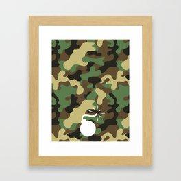 CAMO & WHITE BOMB DIGGITY Framed Art Print