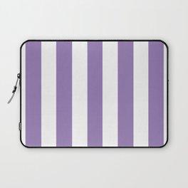 Lavender purple - solid color - white vertical lines pattern Laptop Sleeve