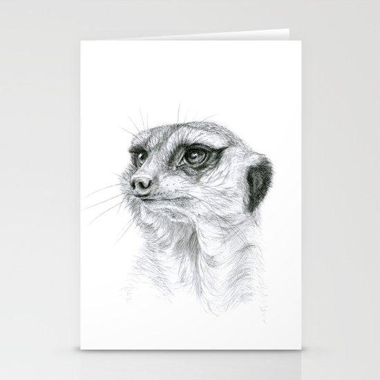 Meerkat G035 Stationery Cards