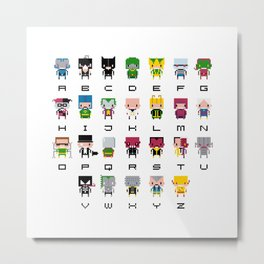 Pixel Supervillain Alphabet 2 Metal Print