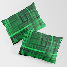 Black and green abstract Pillow Sham