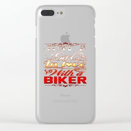 In love with a Biker Clear iPhone Case