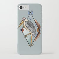 "crane iPhone & iPod Cases featuring ""CRANE"" by Magdalena Sky - The Moth"