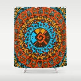 Colorful Hunab Ku Mayan symbol #7 Shower Curtain