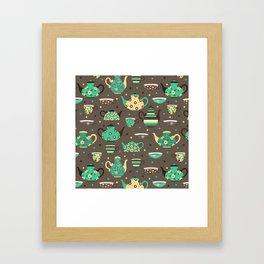 Tea pattern. Framed Art Print