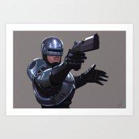 robocop Art Prints featuring Robocop by Jeff Delgado