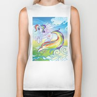 mlp Biker Tanks featuring Rainbow Dash - MLP by mmishee