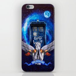 The Angel with Tardis iPhone Skin