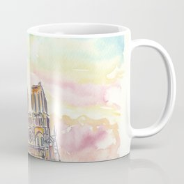Notre Dame Paris France Cathedral at Sunset Coffee Mug