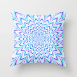 Crinkle Cut Pulse in Pale Blue and Pink Throw Pillow