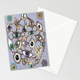 geodesic eyes Stationery Cards