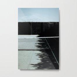 Empty tennis court dark moody photo print   Tavel photography  Netherlands   Fine Art photo print Metal Print
