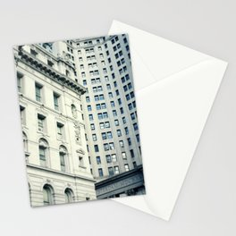 NYC Downtown Buildings, New York City Photography Stationery Cards