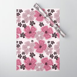 Pastel Peonies Flower Collection Wrapping Paper