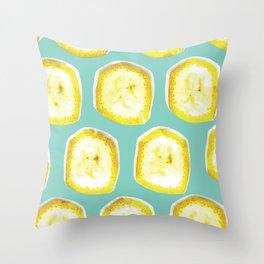 Banana inside #society6 Throw Pillow