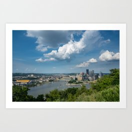 Pittsburgh in the summer Art Print