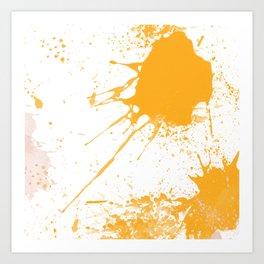Paint Splatters in Saffron Art Print