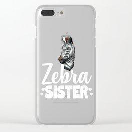 Zebra Sister African Safari Zoo Animal Clear iPhone Case