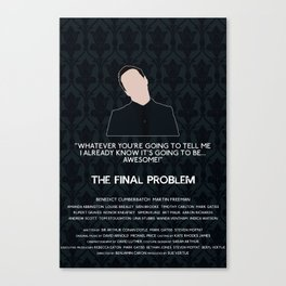 The Final Problem - Jim Moriarty Canvas Print