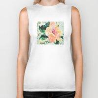 hibiscus Biker Tanks featuring Hibiscus by JeleataNicole