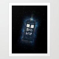 Bad Wolf TARDIS Art Print