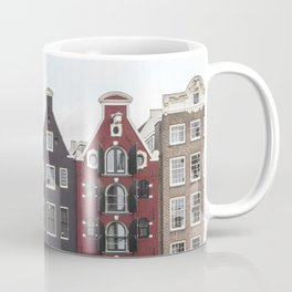 Buildings In Amsterdam City Picture | Dutch Canals Colorful Architecture Art Print | Europe Travel Photography Coffee Mug