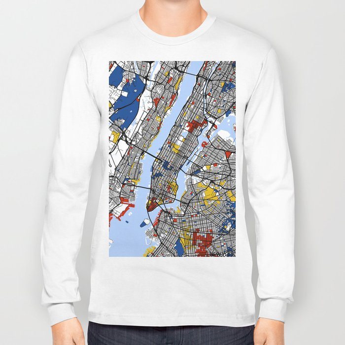 New York Mondrian Long Sleeve T-shirt