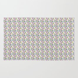 Roses & Forget Me Nots Yellow Rug