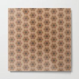 Floral No. 2 -- Brown Metal Print
