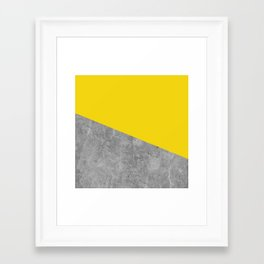 Geometry 101 Vivid Yellow Framed Art Print