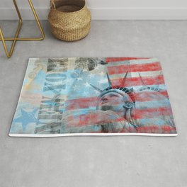 Lady Liberty Stars and Stripes Patriotic Artwork Rug