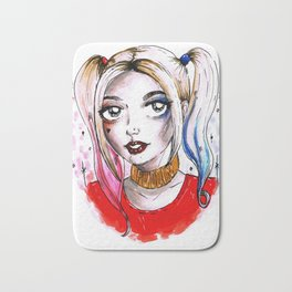 harley quinn fan art Bath Mat