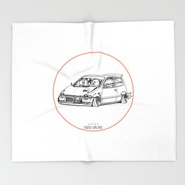 Crazy Car Art 0211 Throw Blanket