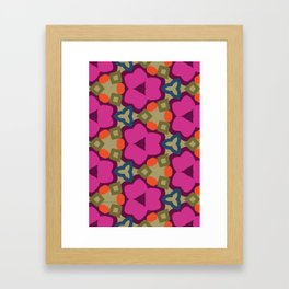 Flower-Caleidoscope Framed Art Print