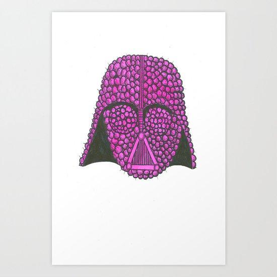 Darth Raspberry Art Print