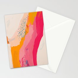 Abstract Line Shades Stationery Cards