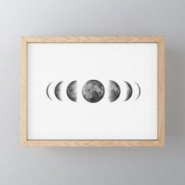 Phases of the moon - Scandinavian art Framed Mini Art Print